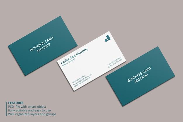 Реалистичный дизайн макета визитки