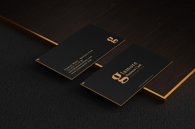 Realistic business card mockup isolated