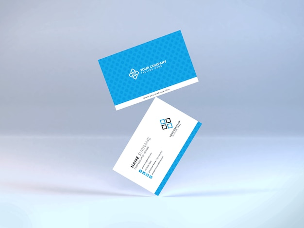 Realistic business card mockup template psd