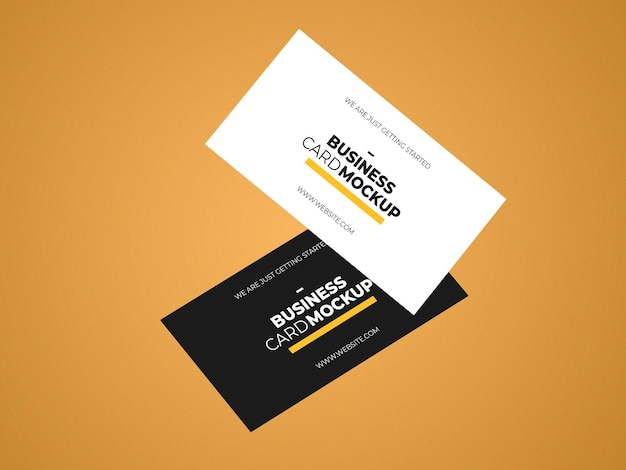 Realistic business card mockup template