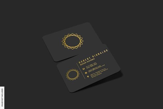 Реалистичный макет визитки с темным светом