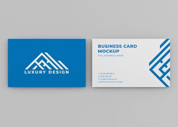 Реалистичный макет визитки