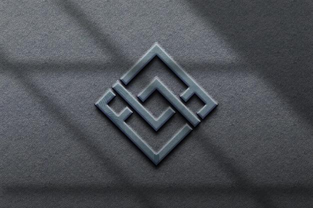 Realistic business  logo mockup