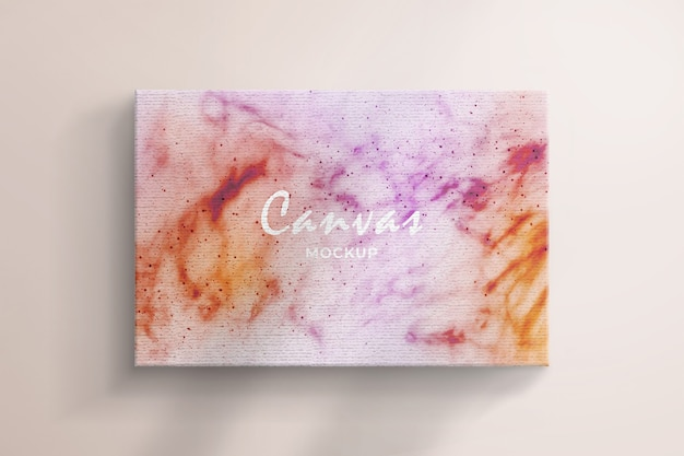 Realistic canvas mockup textured background