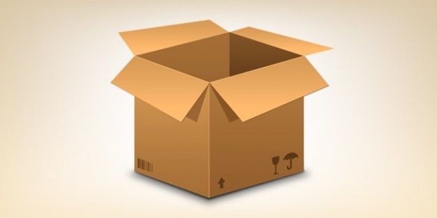 Realistic cardboard box icon