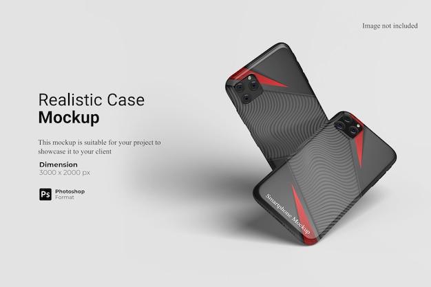 分離された現実的なケースのモックアップデザイン