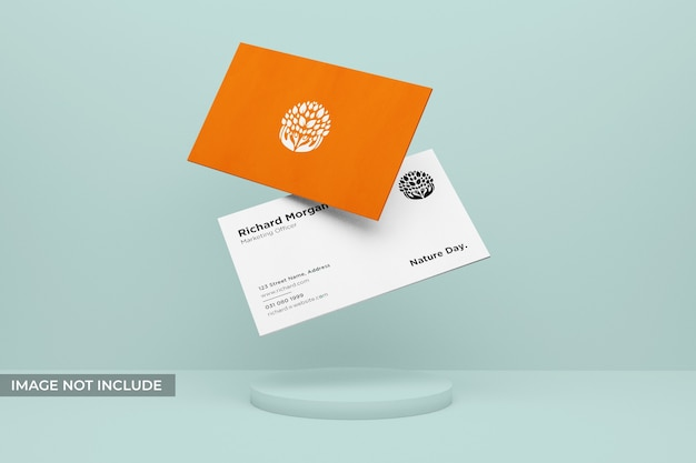 Realistic and clean business card mockup
