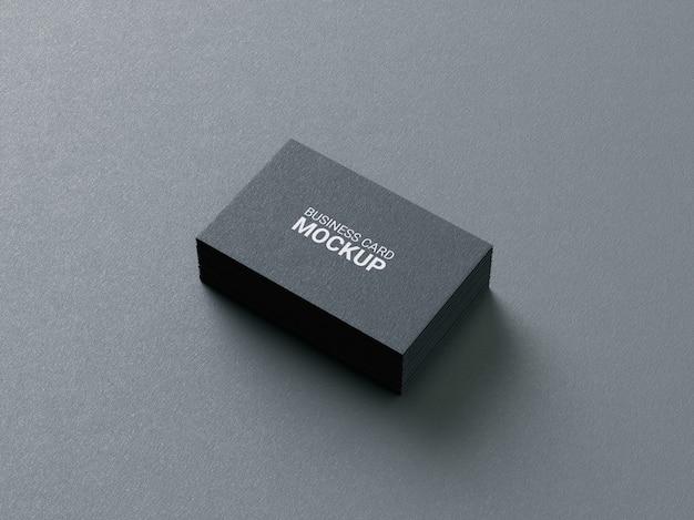 Realistic clean minimal business card mockup