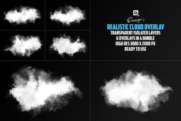 Реалистичное облачное наложение изолированное наложение
