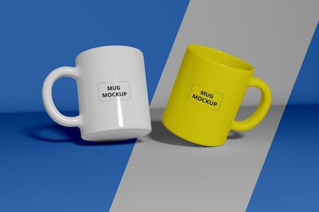 Realistic coffee cup mockup premium psd