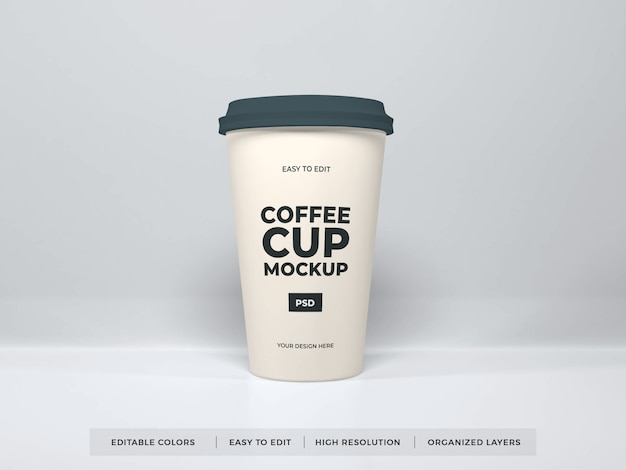 Реалистичный макет кофейной чашки
