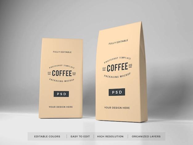 Реалистичный макет упаковки кофе