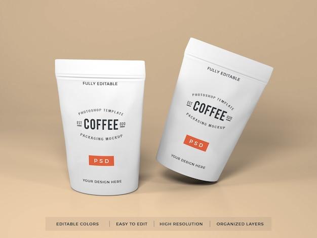 現実的なコーヒー包装モックアップ