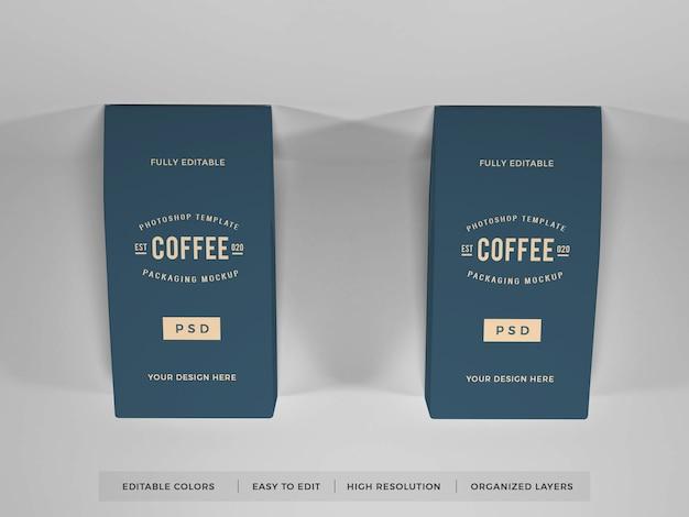 현실적인 커피 포장 모형
