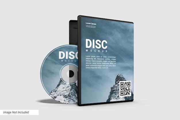 Реалистичный макет компакт-диска и открытого корпуса