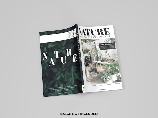 고립 된 잡지의 현실적인 표지 모형