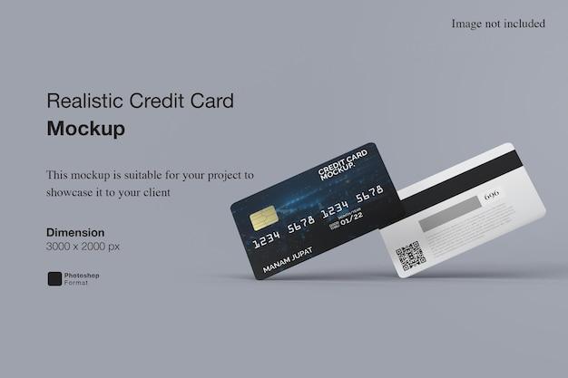 현실적인 신용 카드 모형 프리미엄 PSD 파일