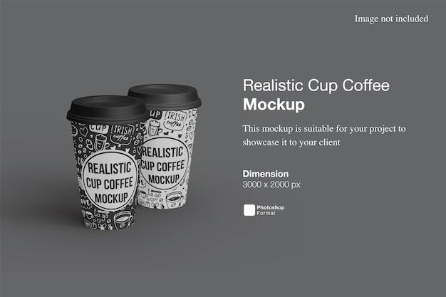 Realistic cup coffee mockup