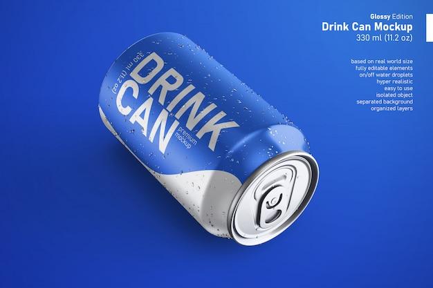 현실적인 사용자 정의 광택 음료수 이랑 수
