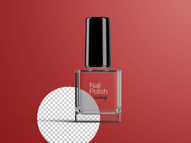 Realistic customizable isolated mockup of nail polish