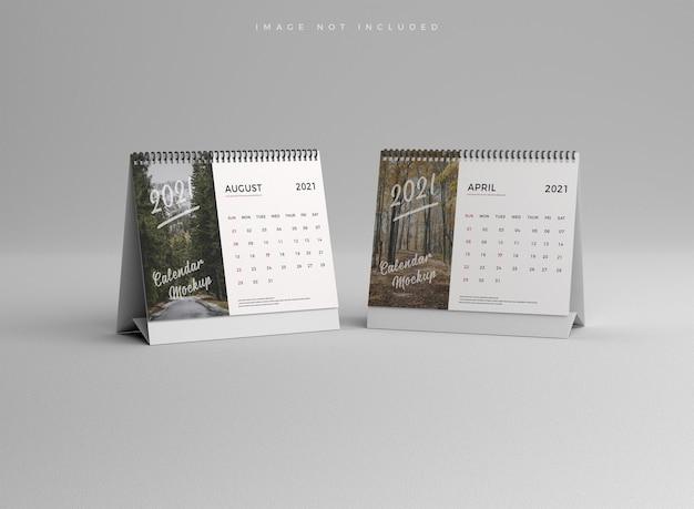 Реалистичный макет настольного календаря