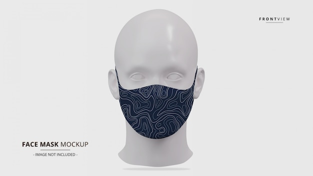 Realistic earloop face mask mockup front view