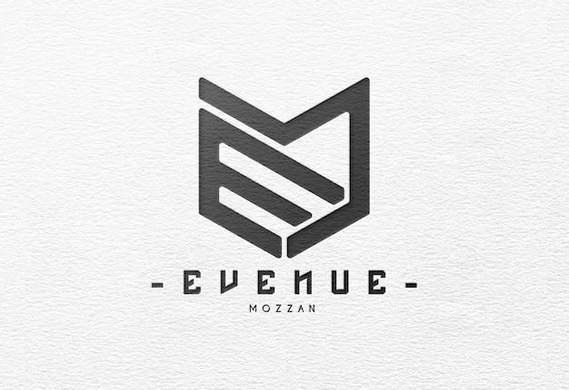 Realistic and elegant debossed logo mockup