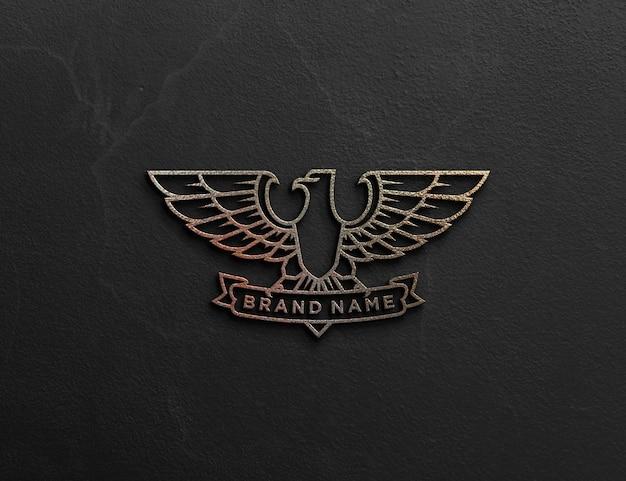 Realistic embossed logo mockup