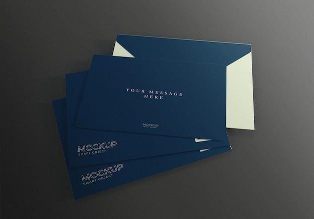 Realistic envelope mockup template
