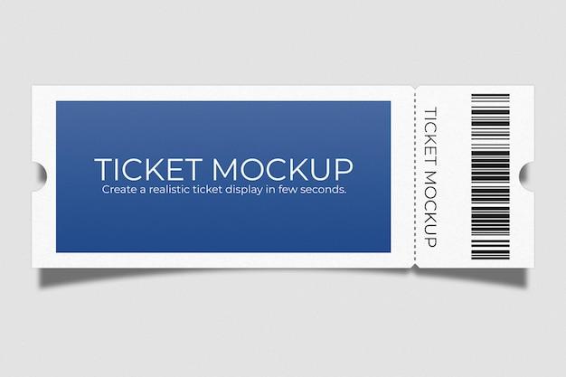 현실적인 이벤트 티켓 모형 디자인