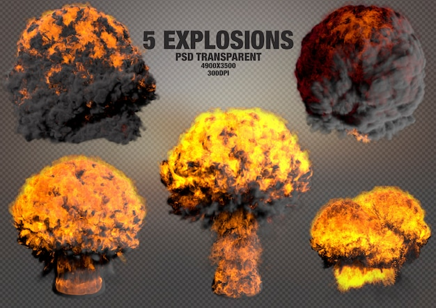 Realistic explosions