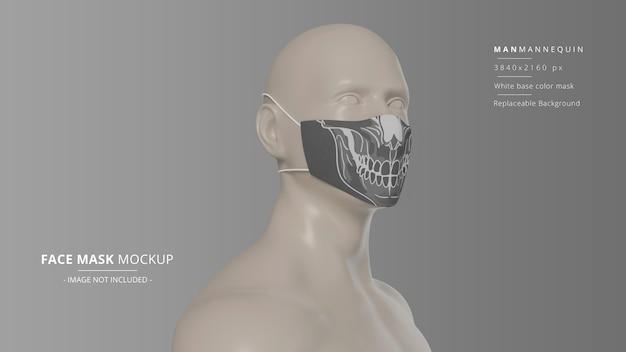 현실적인 얼굴 마스크 모형 남자 마네킹 헤드 루프