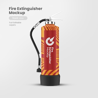 Realistic fire extinguisher with mockup isolated