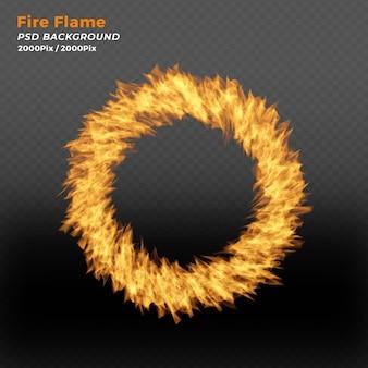 Реалистичное огненное кольцо с частицами огня