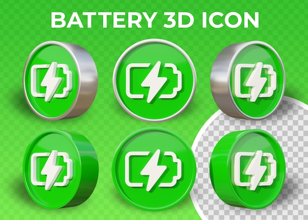 Realistic flat battery or energy isolated 3d icon