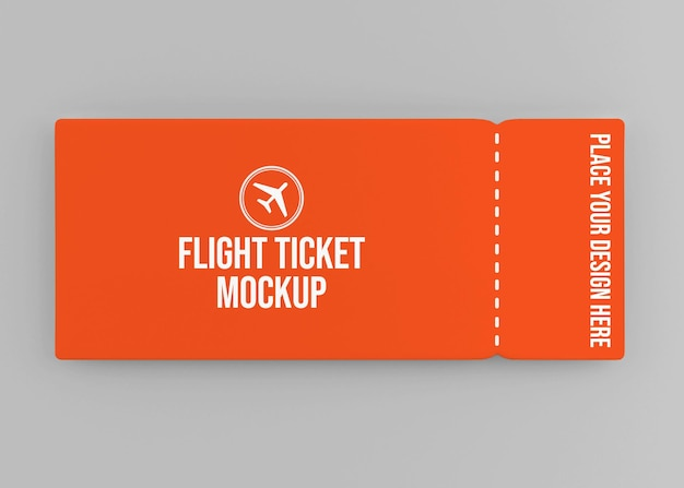 Реалистичный дизайн макета авиабилета изолирован