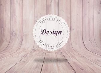Realistic floorboard background design