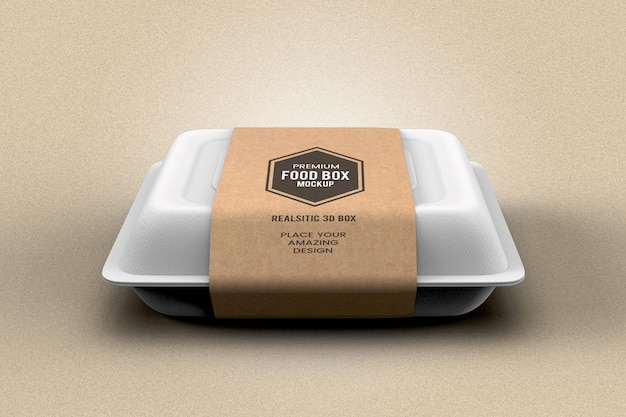 Realistic food box packing mockup