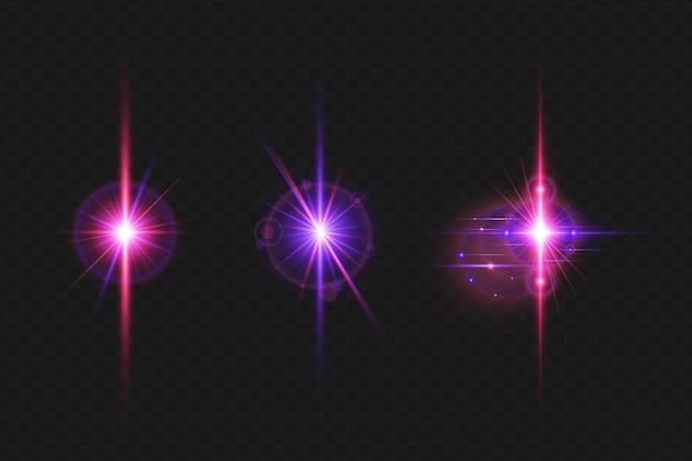 크리스마스를 위한 현실적인 힘 충돌 렌즈 플레어 조명 효과