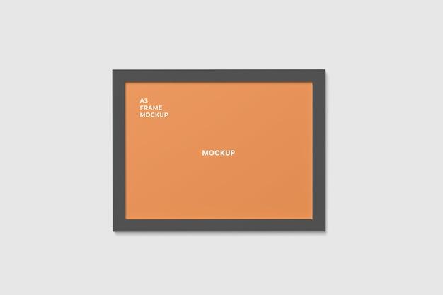 Realistic frame mockup horizontal
