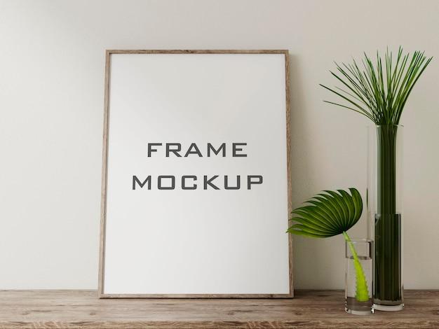 Реалистичный макет рамки premium psd