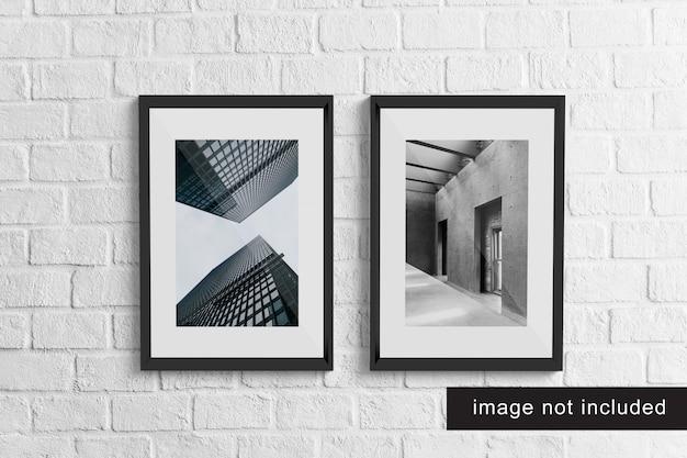 Realistic frame mockup