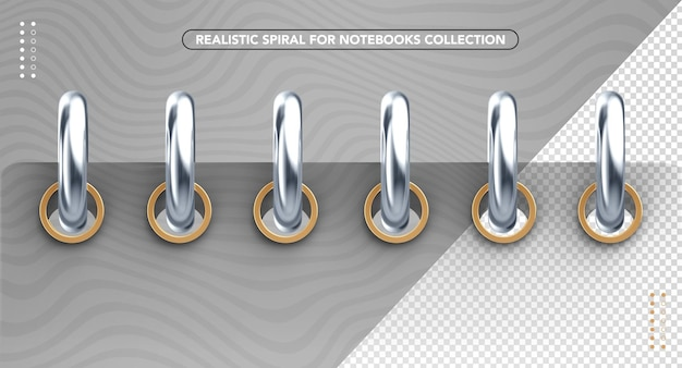 Realistic front spiral for back to school compositions