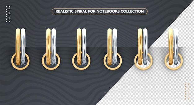 Realistic front spiral for notebooks