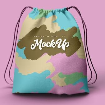 Realistic full printed bag mockup