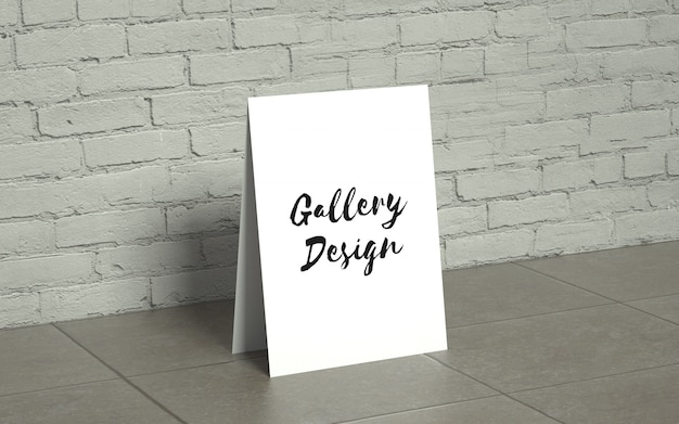 Realistic gallery mockup