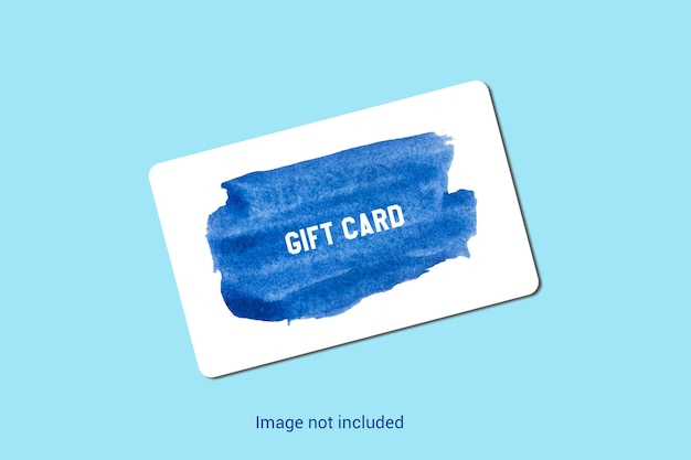 Realistic gift card mock-up