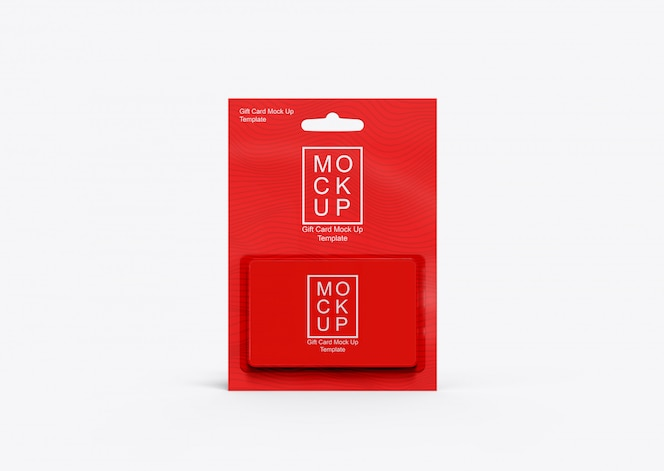 Realistic gift Card Mockup