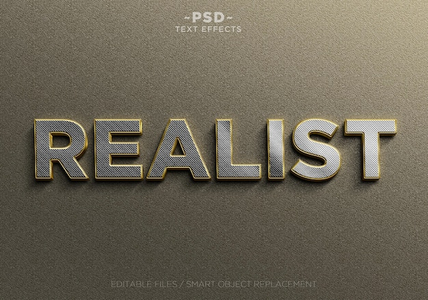 Реалистичные золотые и серебряные редактируемые текстовые эффекты