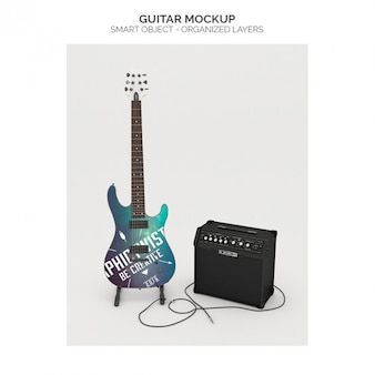 Realistic guitar mock up